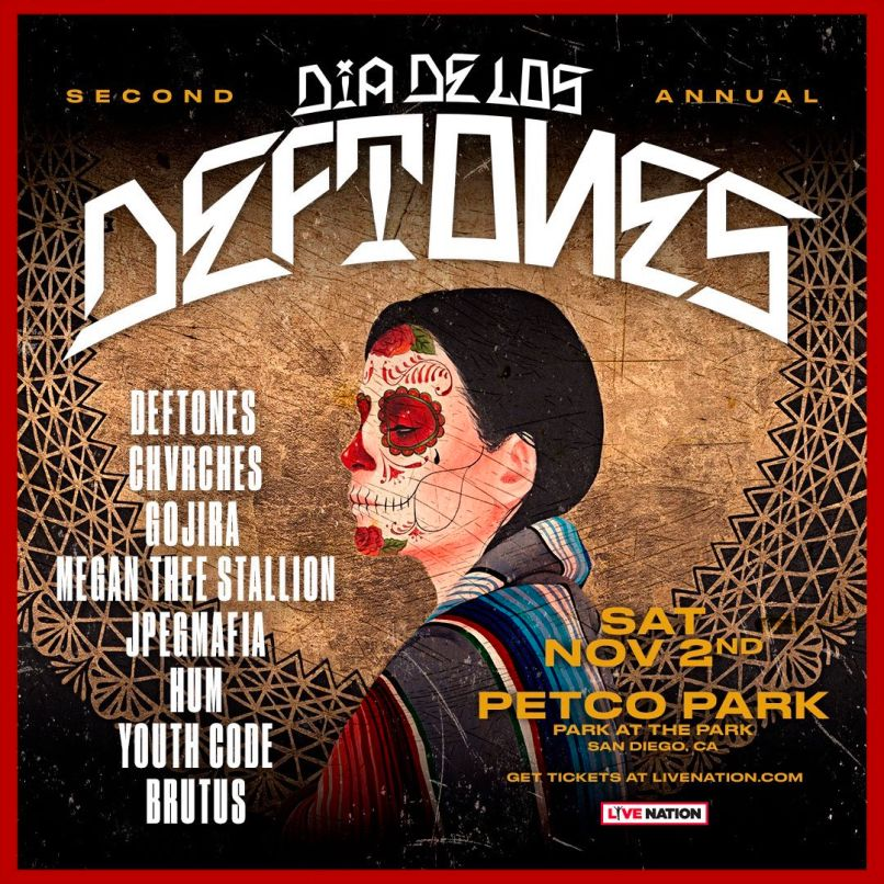 2019 Dia De Los Deftones Festival Poster